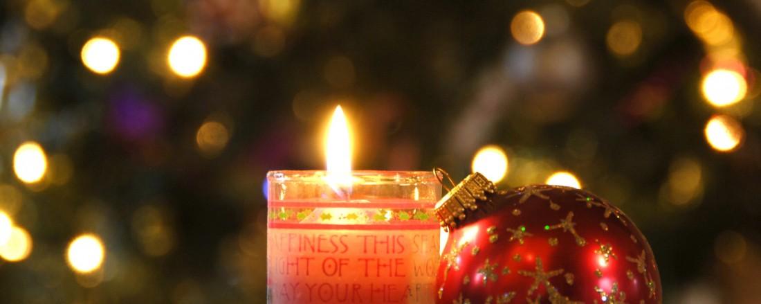Praznična dekoracija uz pomoć sveća-2
