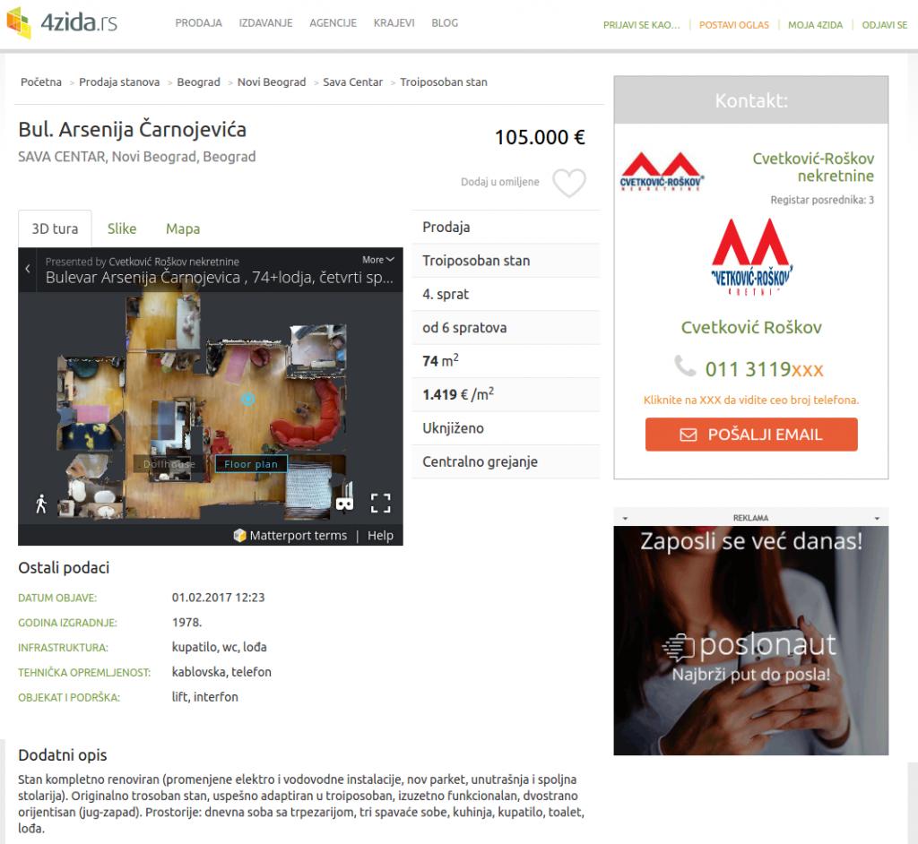 Interaktivna 3d tura na sajtu 4zida