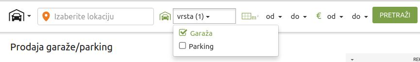 oglasavanja garaža i parking mesta